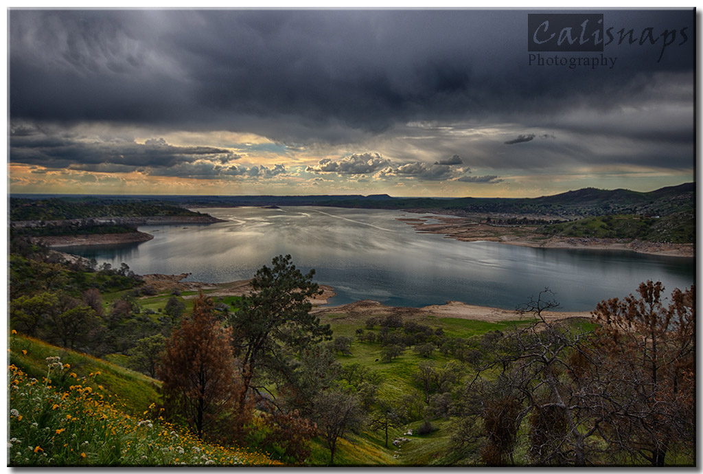 Storm over Millerton lake