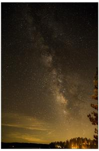 Milky Way, with foreground