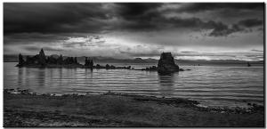 Mono Lake Tufa in monochrome.